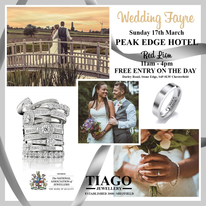 Wedding Fayre Showcase | Sunday 17th March | Peak Edge Hotel