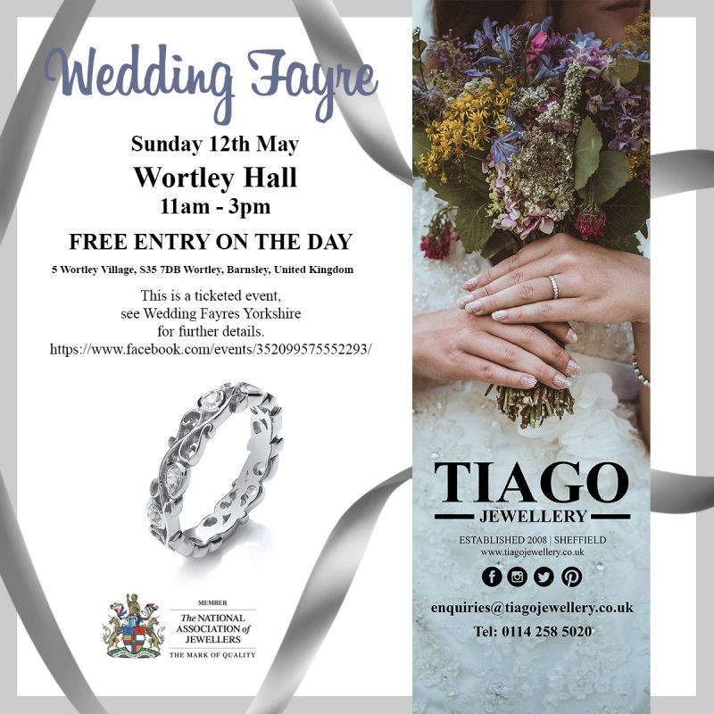 Wedding Fayre Showcase | Sunday 12th May | Wortley Hall