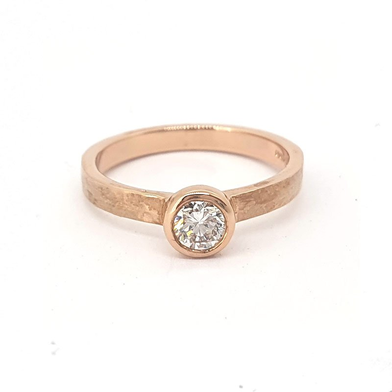 0.37ct Diamond 9ct Rose Gold Solitaire £1200.00