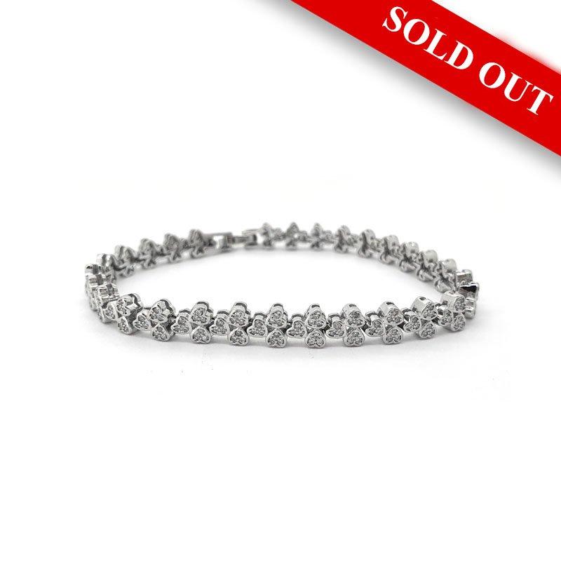 Silver Cubic Zirconia Heart Bracelet £109.00