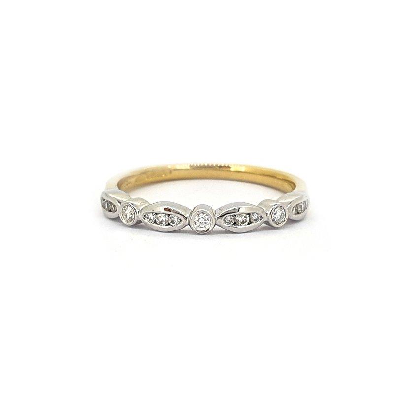0.13ct Two Tone Gold Diamond Ring £690.00