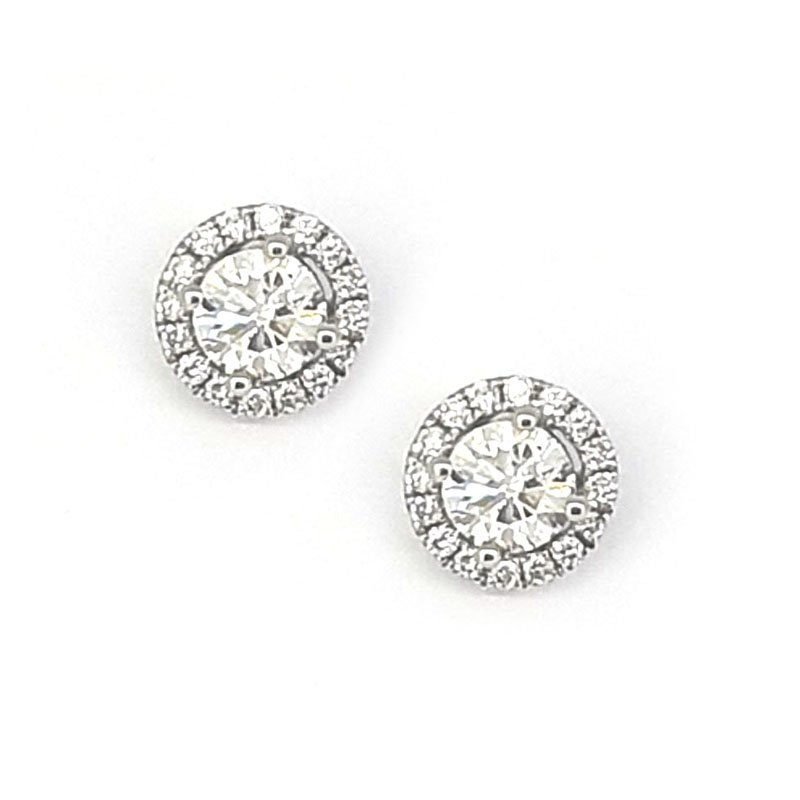 18ct Diamond Halo Studs 0.58ct £1800.00