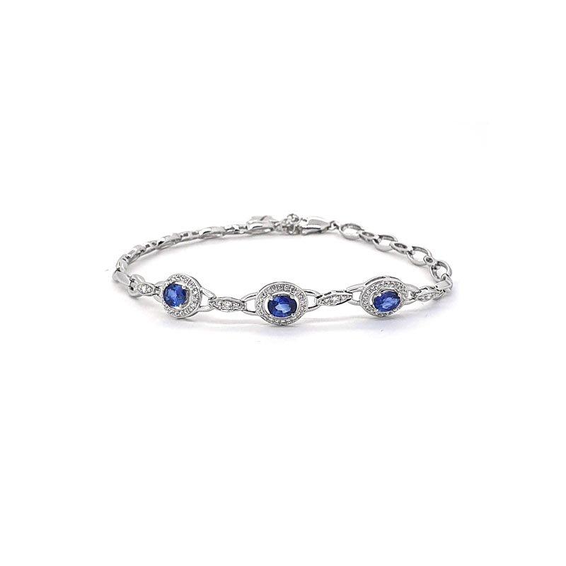 18ct White Gold Sapphire & Diamond Bracelet £2850.00
