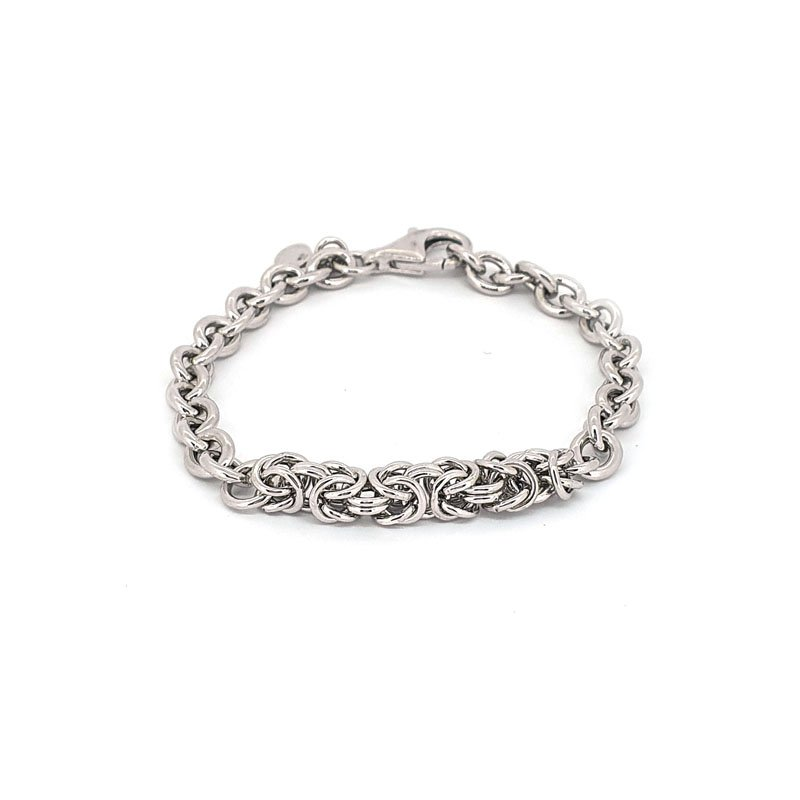 Sterling Silver Interlocking Speiga Bracelet £85.00