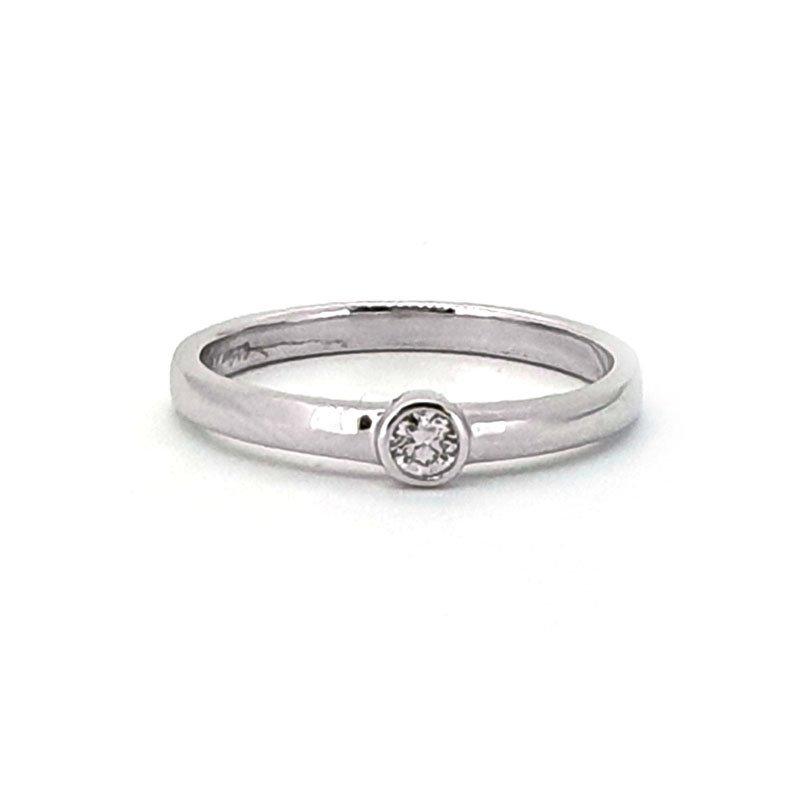9ct White Gold 0.08ct Diamond Ring £480.00