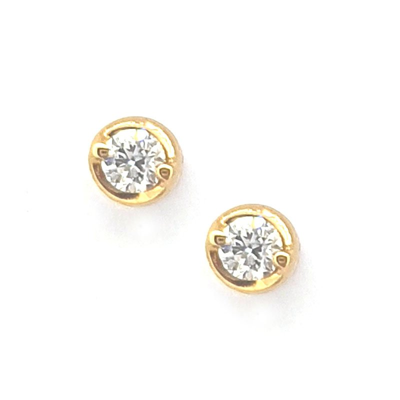 18ct Red Gold Diamond Studs 0.10ct £380.00