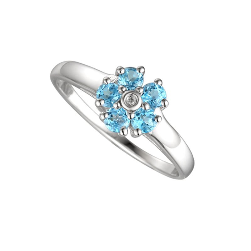 Daisy Blue Ring