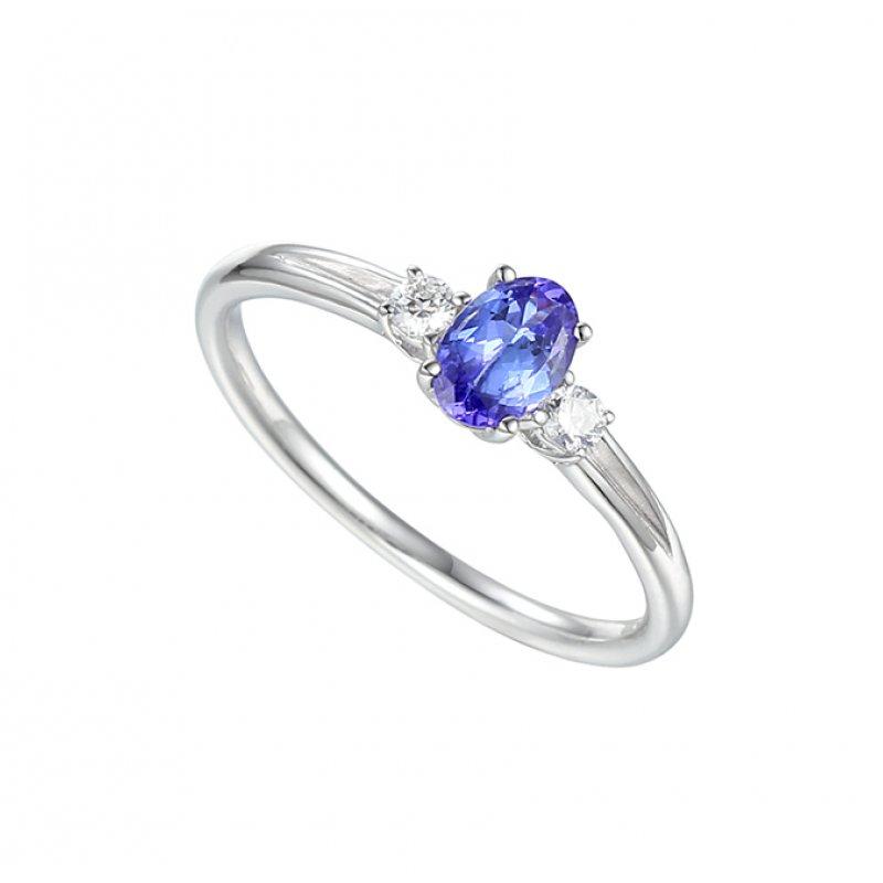 9ct Diamond & Tanzanite Ring £489.00