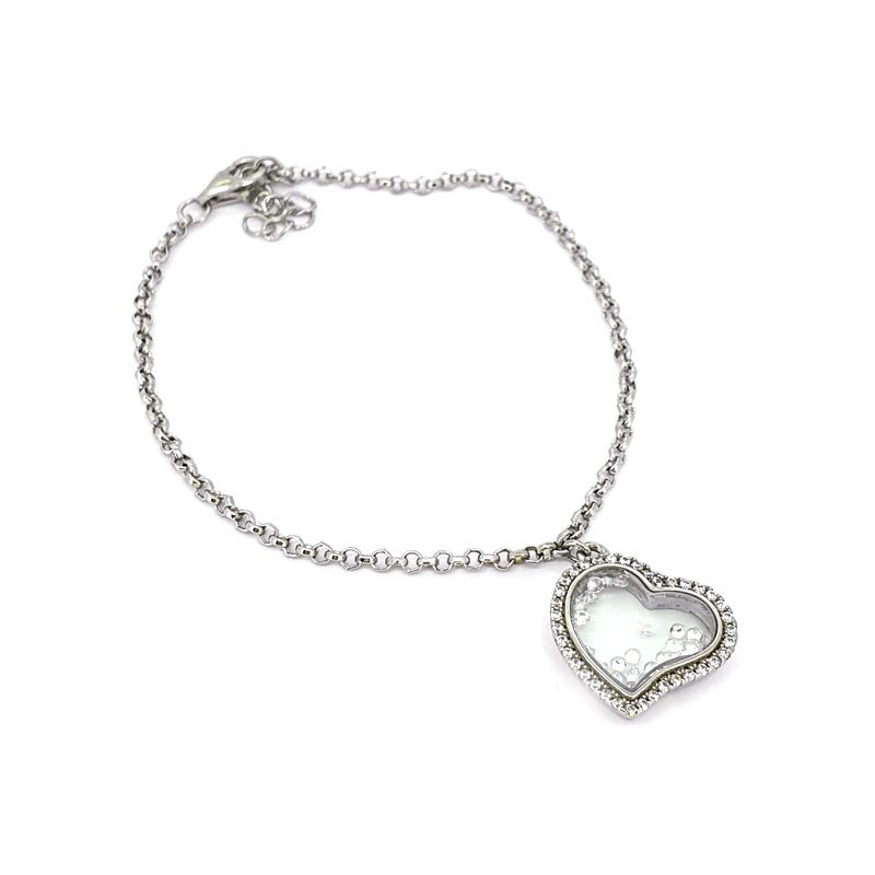 Simply Elegant Floating Heart Bracelet £55.00
