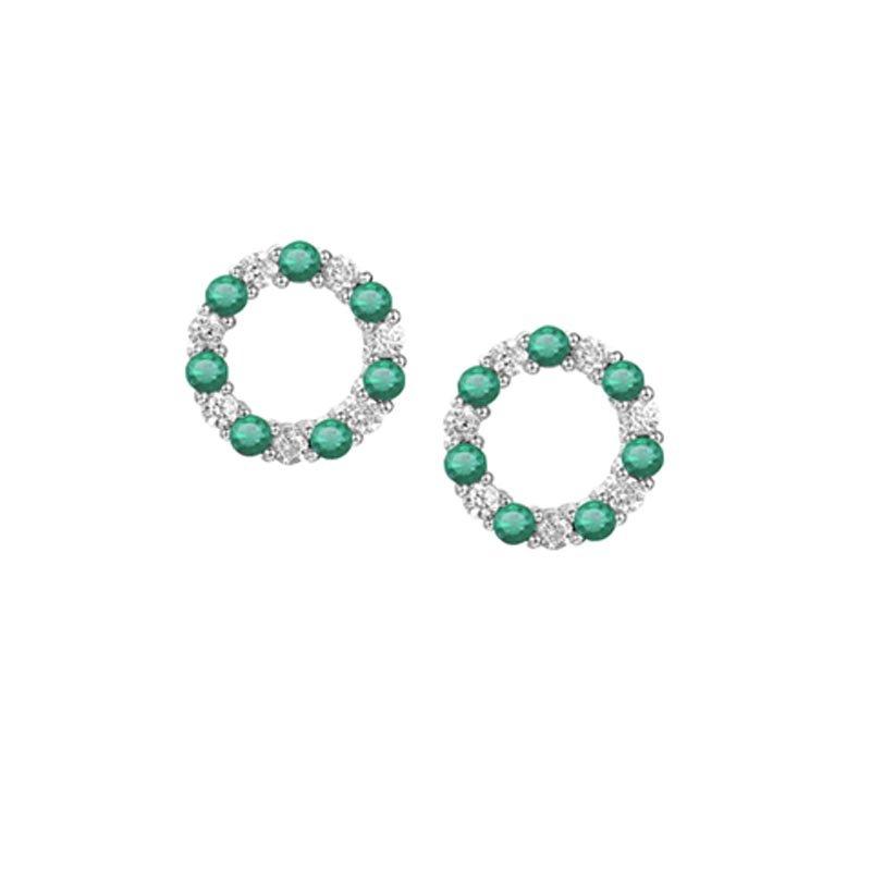 Circle of Life Emerald Studs £107.50