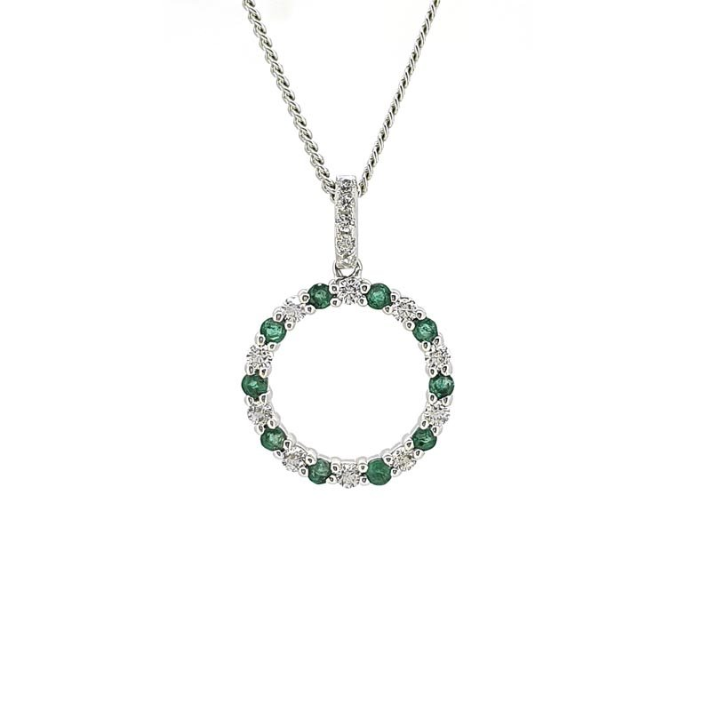 Circle of Life Emerald Necklace £125.00