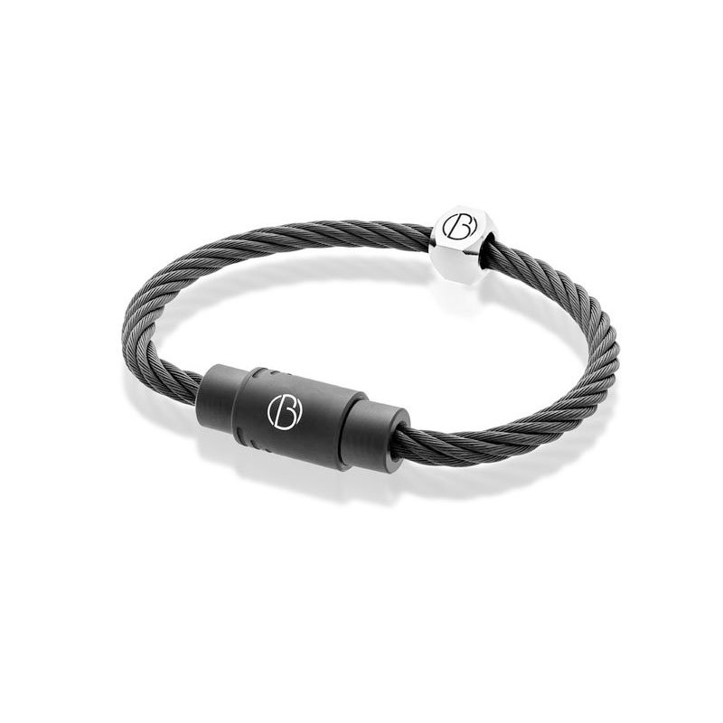 CABLE™ Matte Black Stainless Steel Bracelet