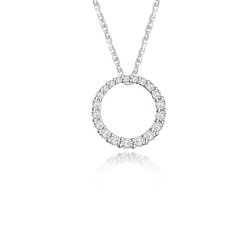 18ct Diamond Circle of Love Necklace