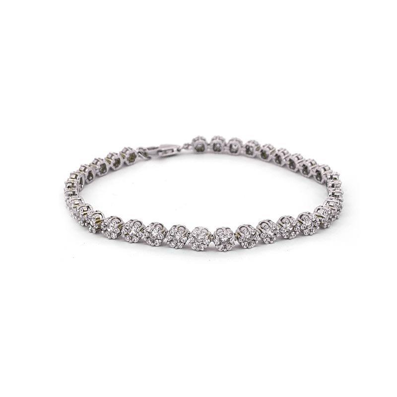 Silver Cubic Zirconia Flower Bracelet £115.00