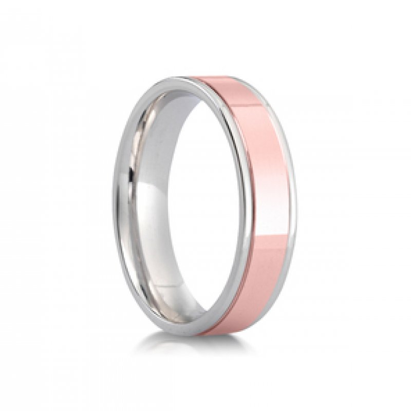 Bi- Colour Wedding Band 1