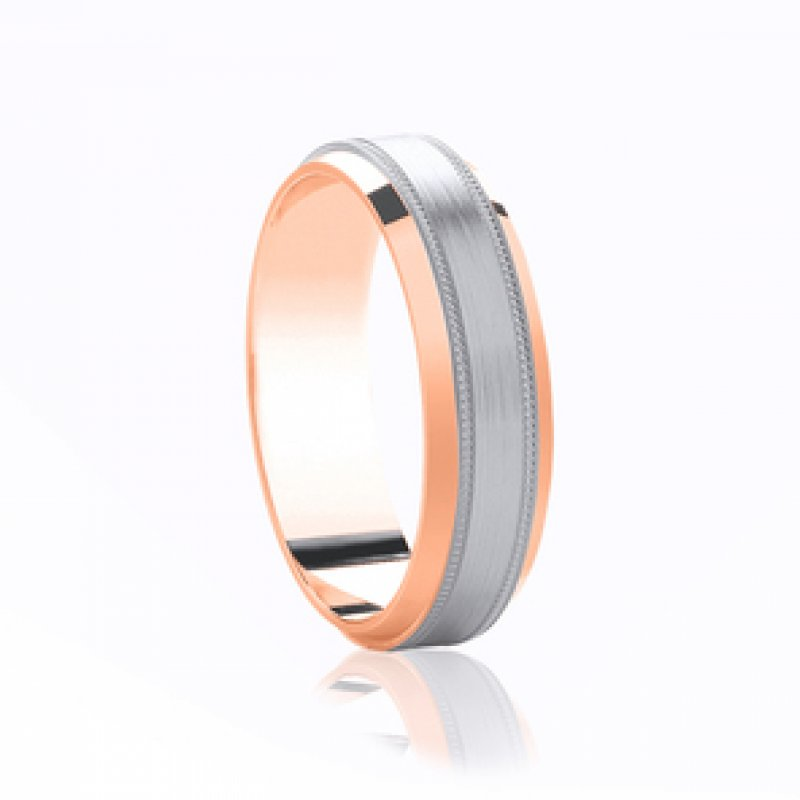 Bi- Colour Wedding Band 6