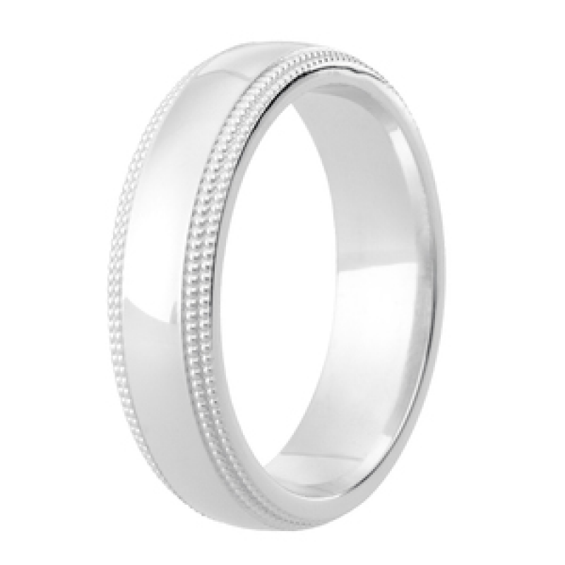 Diamond Cut Wedding Band 23