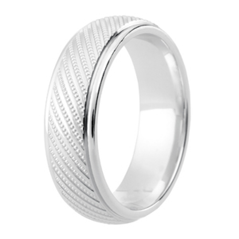 Diamond Cut Wedding Band 24