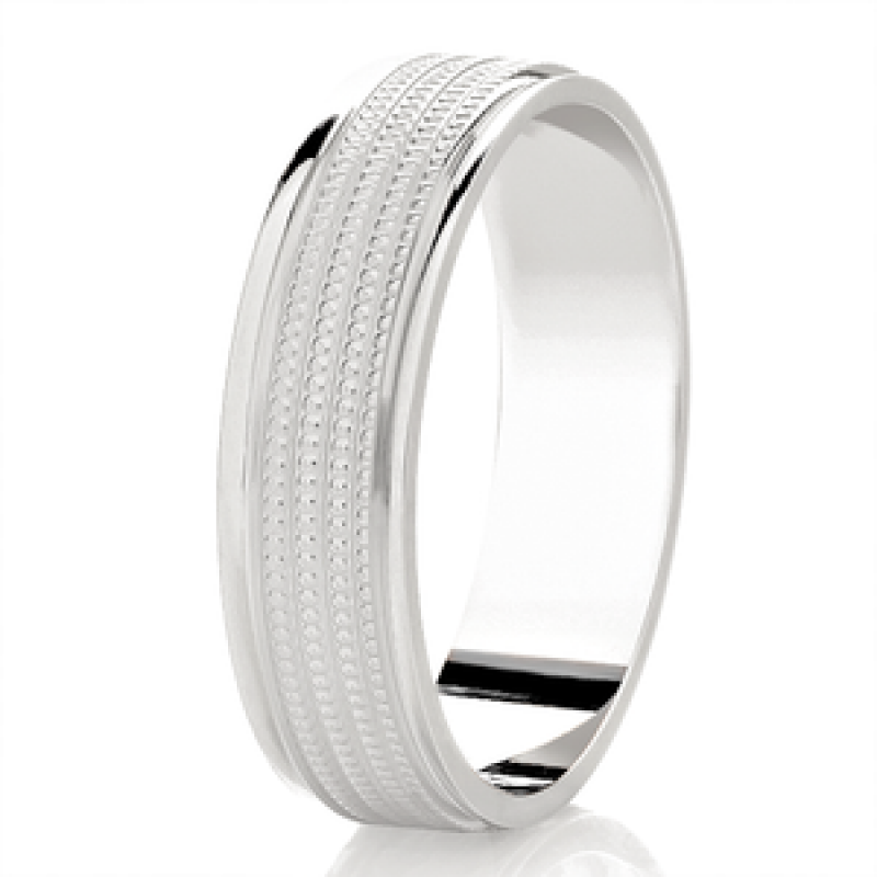 Diamond Cut Wedding Band 12