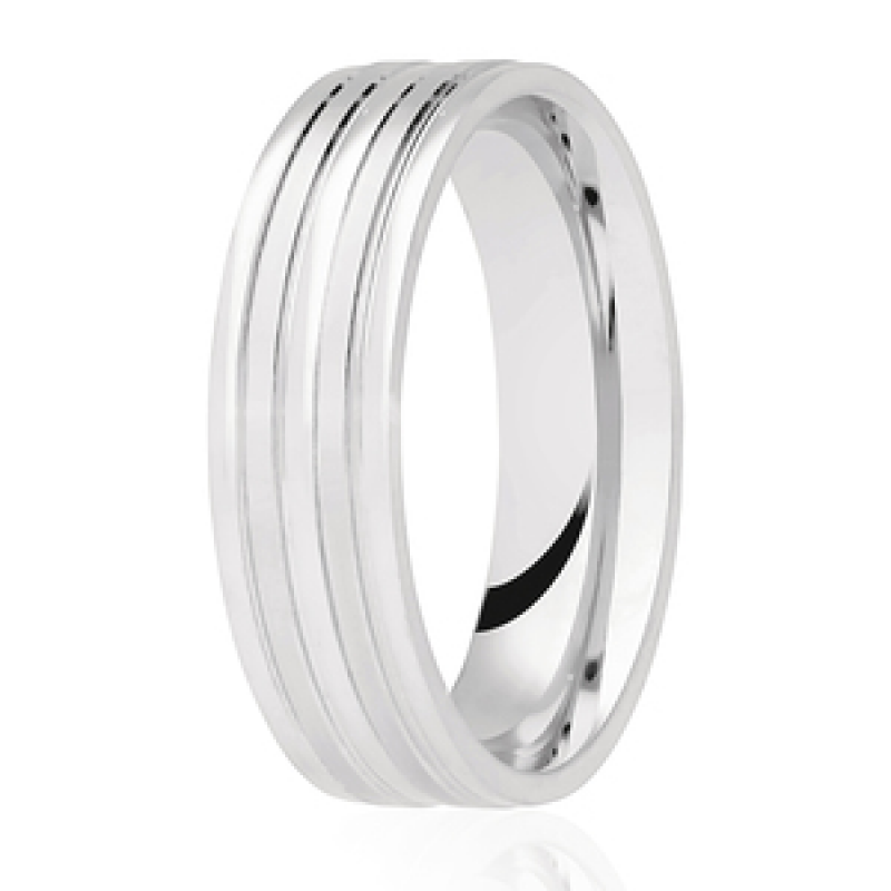Diamond Cut Wedding Band 29
