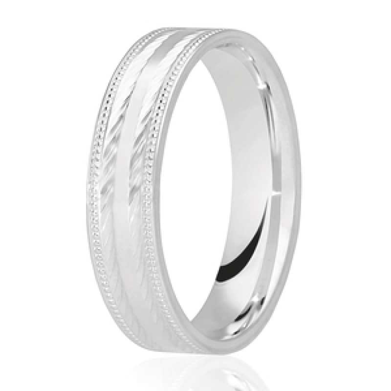 Diamond Cut Wedding Band 22