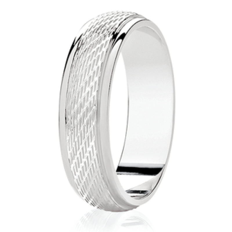 Diamond Cut Wedding Band 30