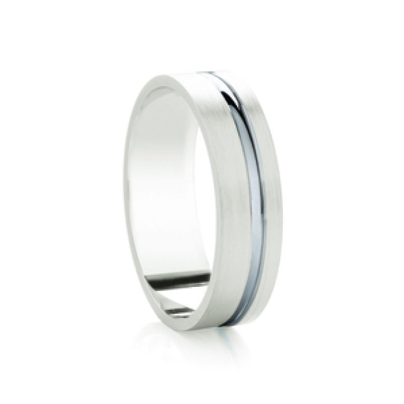 Bi- Colour Wedding Band 7