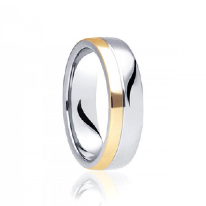 Bi- Colour Wedding Band 8