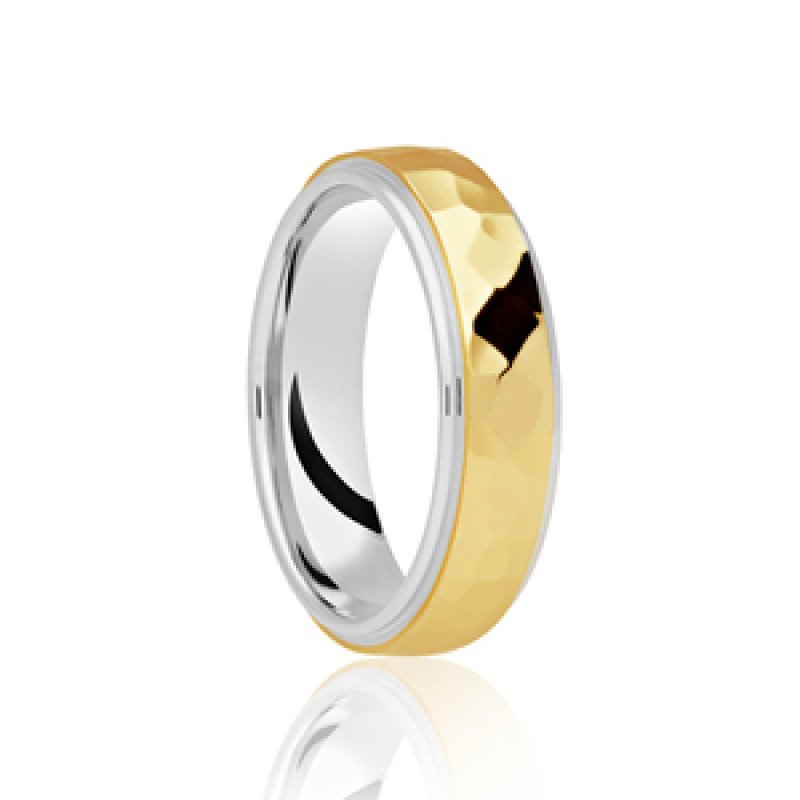 Bi- Colour Wedding Band 12