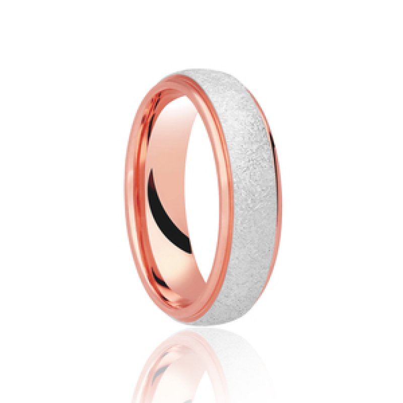 Bi- Colour Wedding Band 11