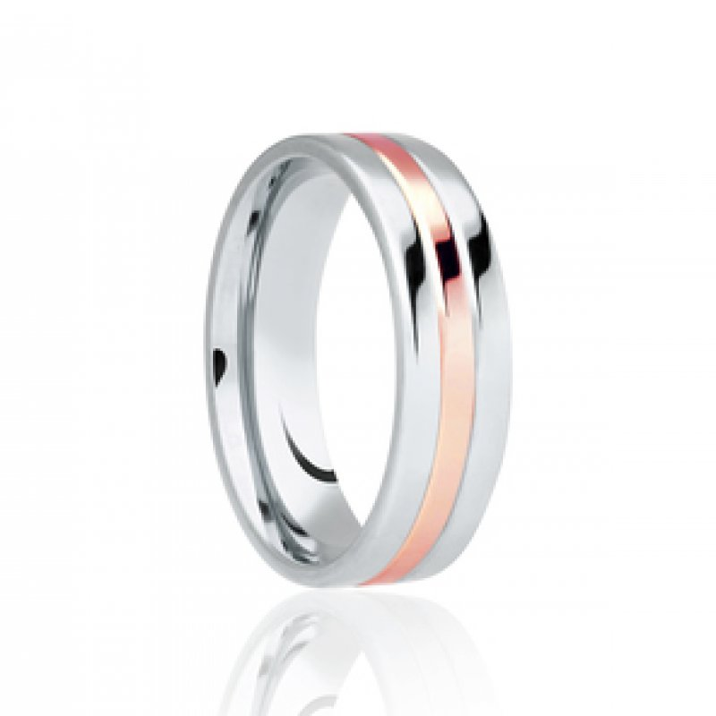 Bi- Colour Wedding Band 2