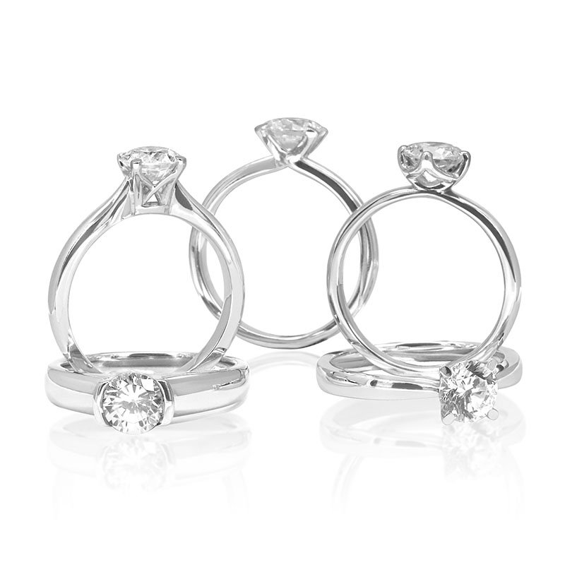 Contemporary Diamond Engagement Rings