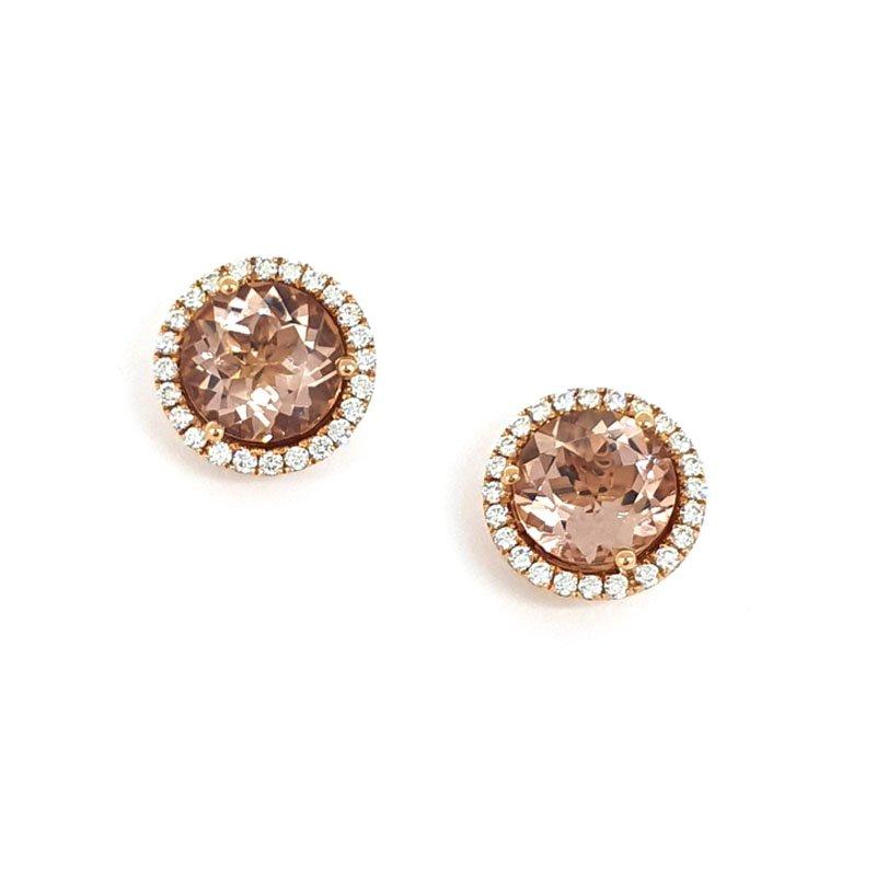 18ct Red Gold Diamond and Morganite £2000.00