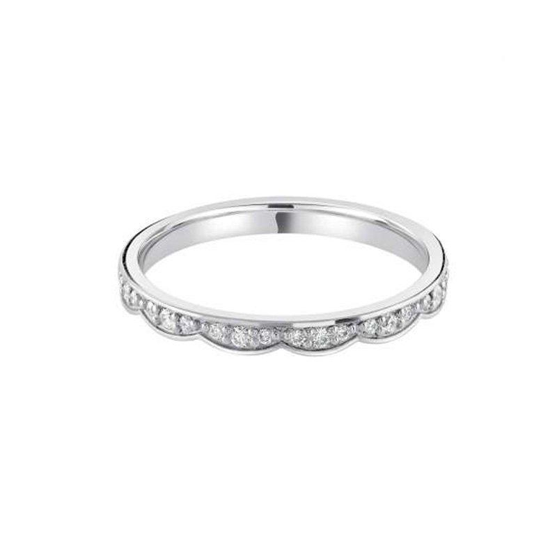 0.14ct Diamond Set Shaped Wedding Ring