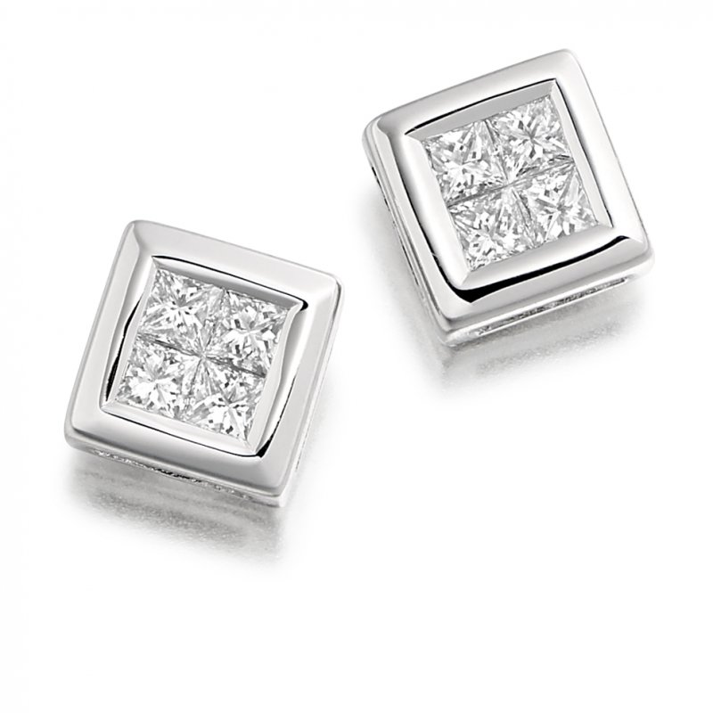 0.30ct Diamond Square Earrings