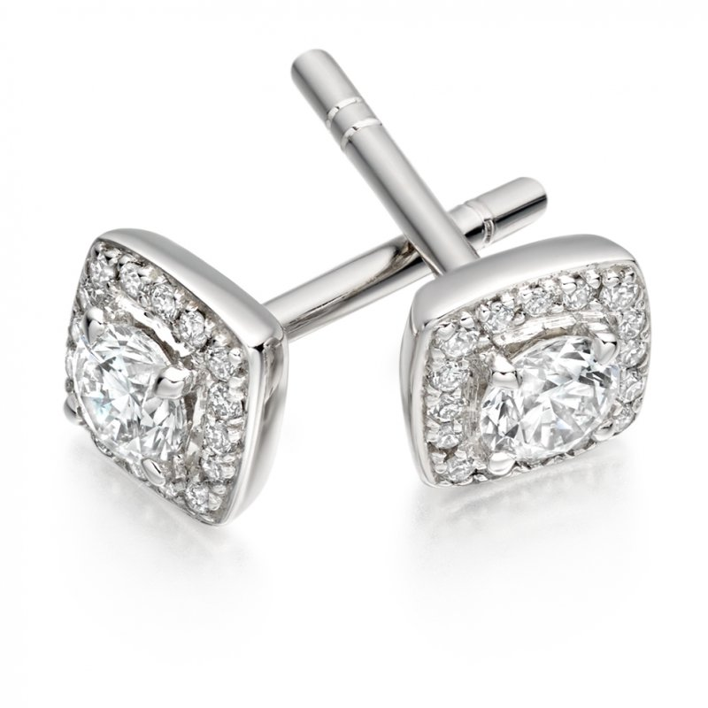 0.30ct Diamond Halo Studs