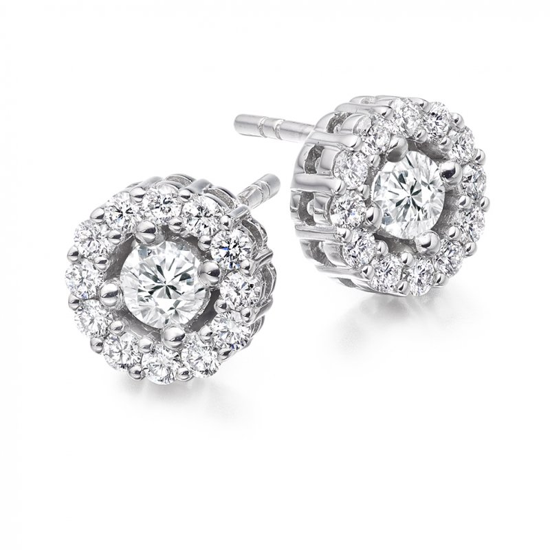 1.00ct Diamond Halo Studs