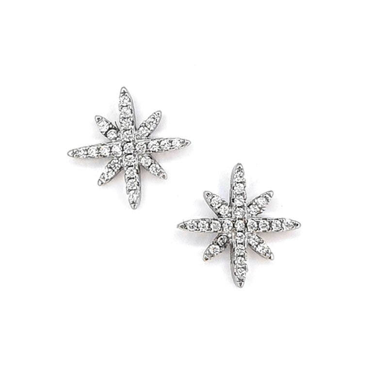 Silver Cubic Zirconia Star Studs £22.00