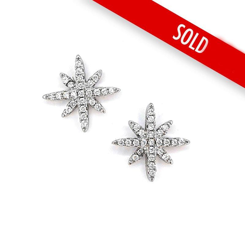 Silver Cubic Zirconia Star Studs £22.00