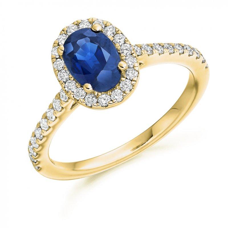 Blue Sapphire Halo
