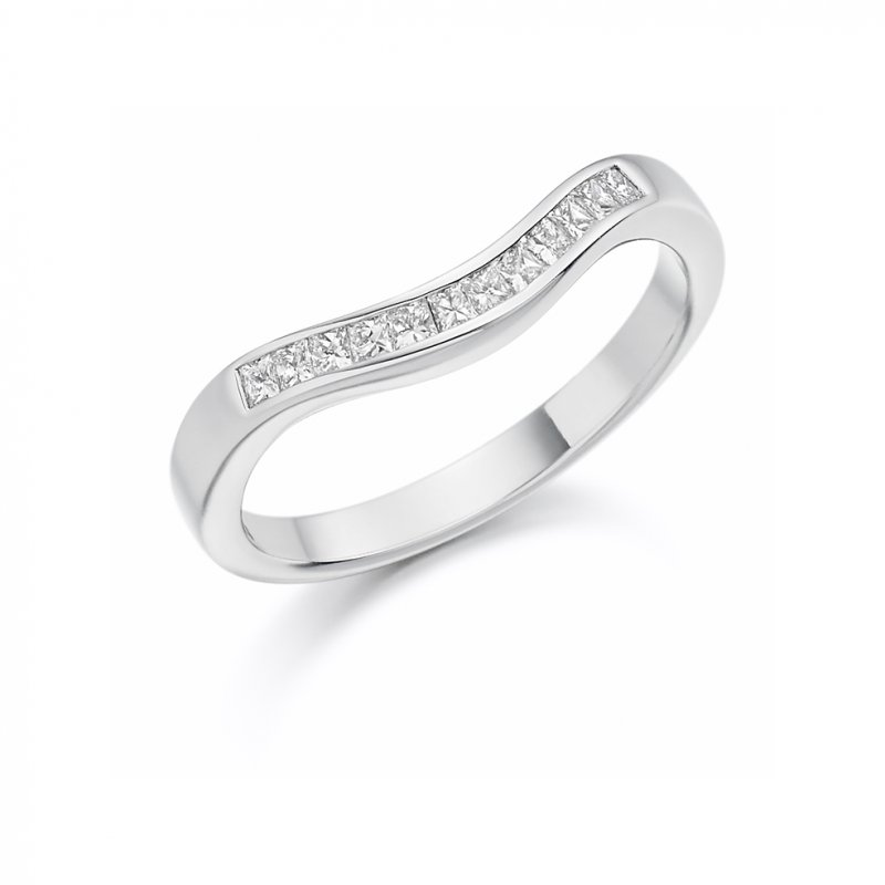 0.25ct Channel Set Shaped Diamond Band