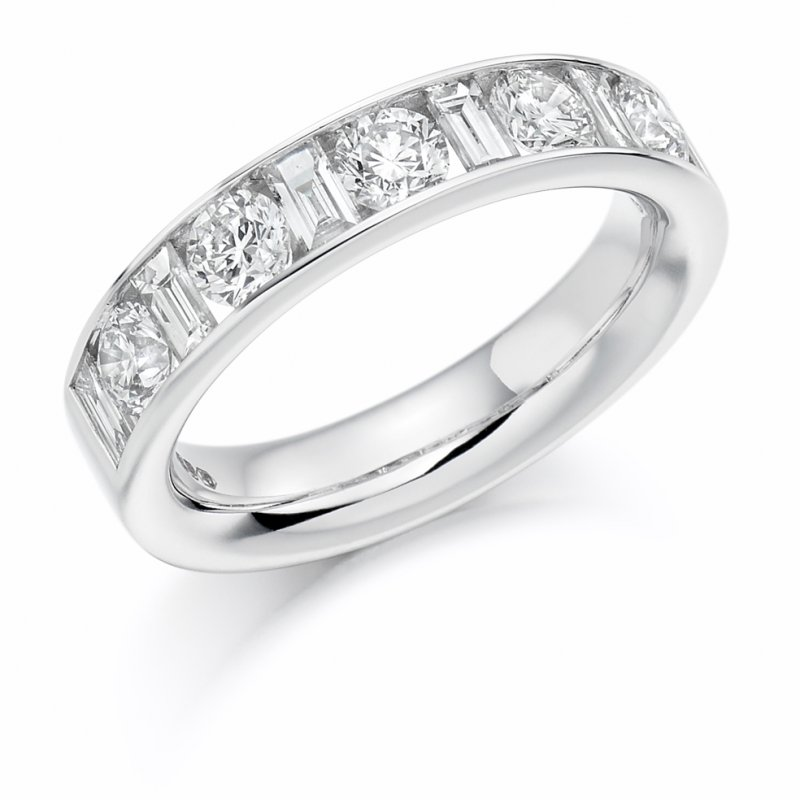 1.50ct Mixed Cut Channel Diamond Eternity Ring 2