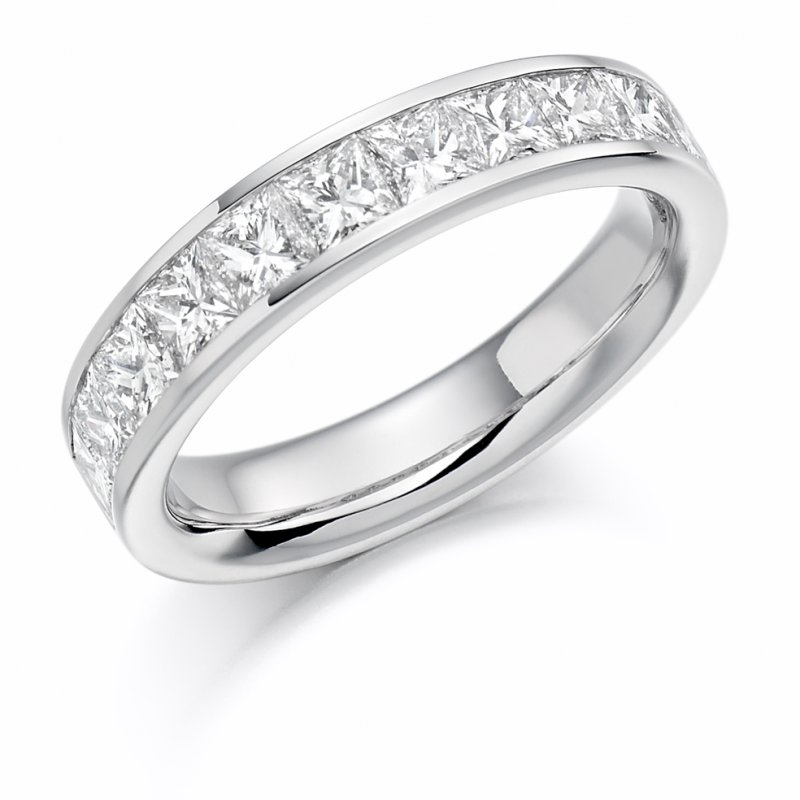 1.50ct Princess Channel Diamond Eternity Band