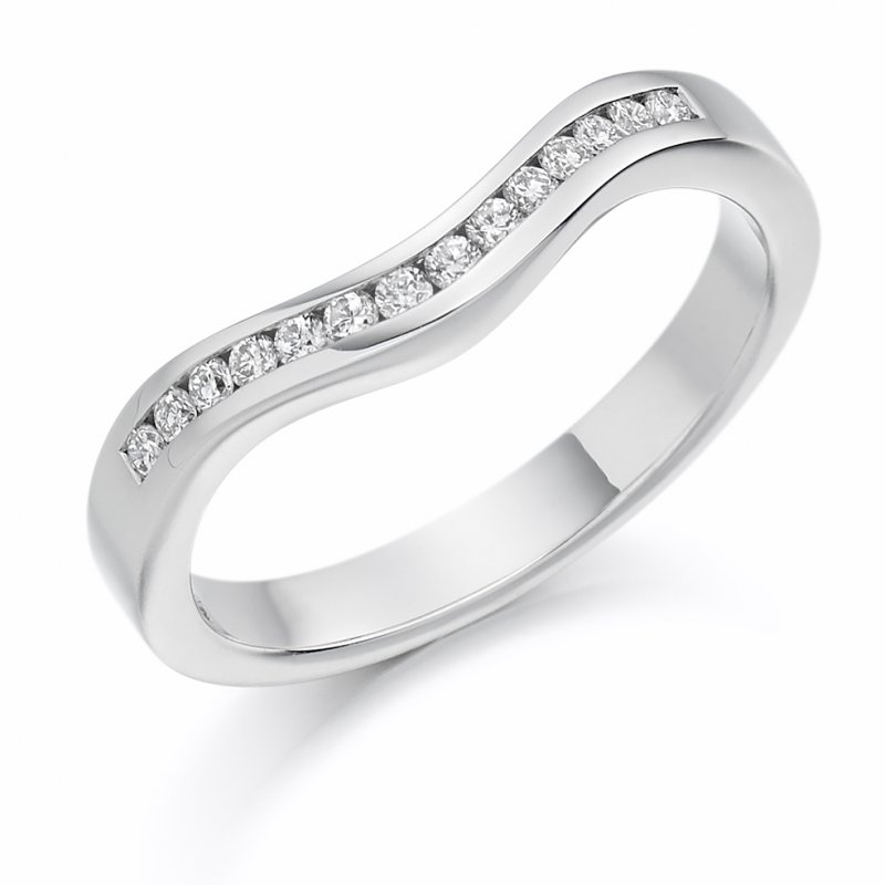 0.16ct Channel Set Shaped Diamond Band