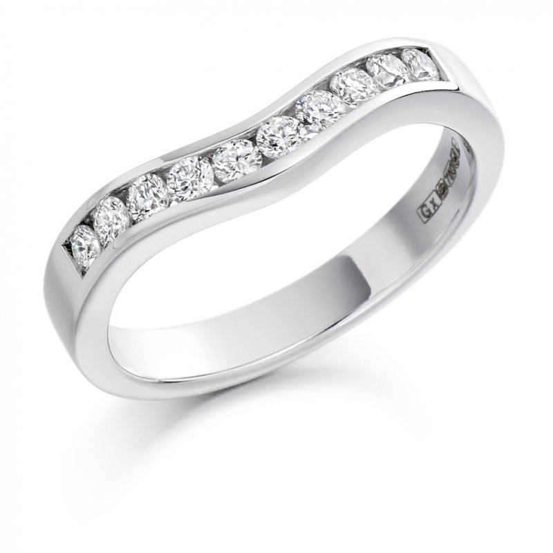 0.33ct Channel Set Shaped Diamond Band