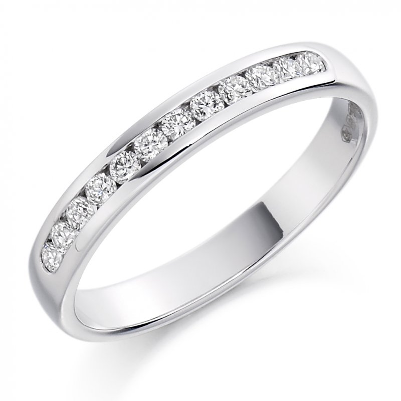 0.25ct Round Brilliant Channel Set Diamond Band