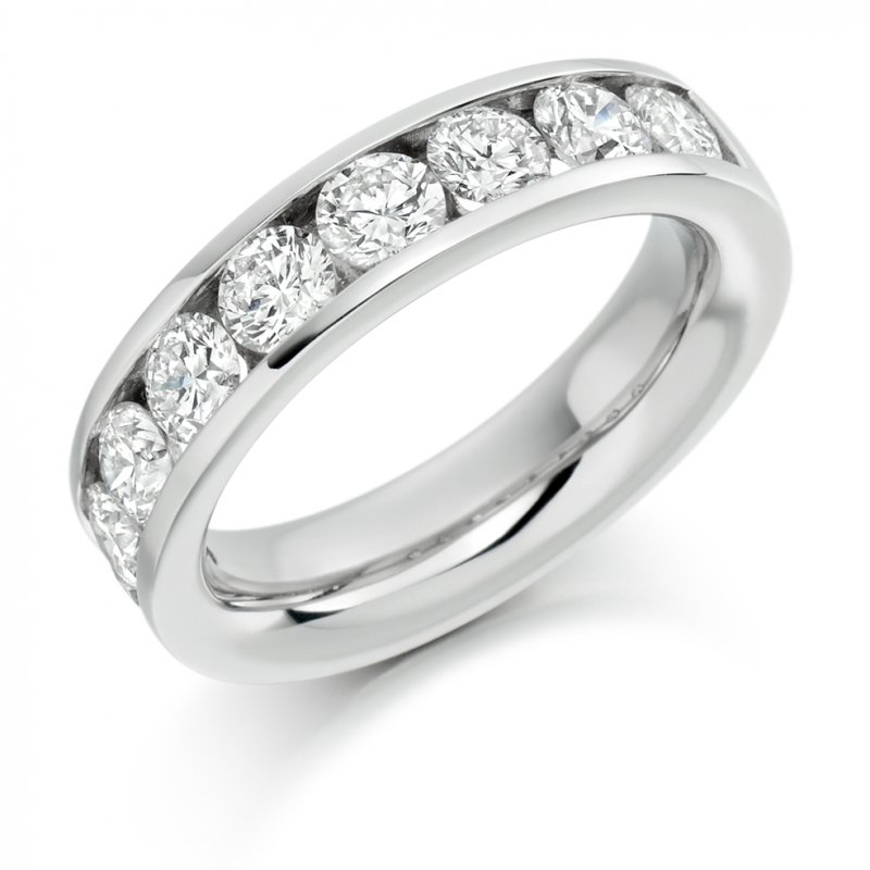 2.00ct Round Brilliant Channel Diamond Eternity Ring
