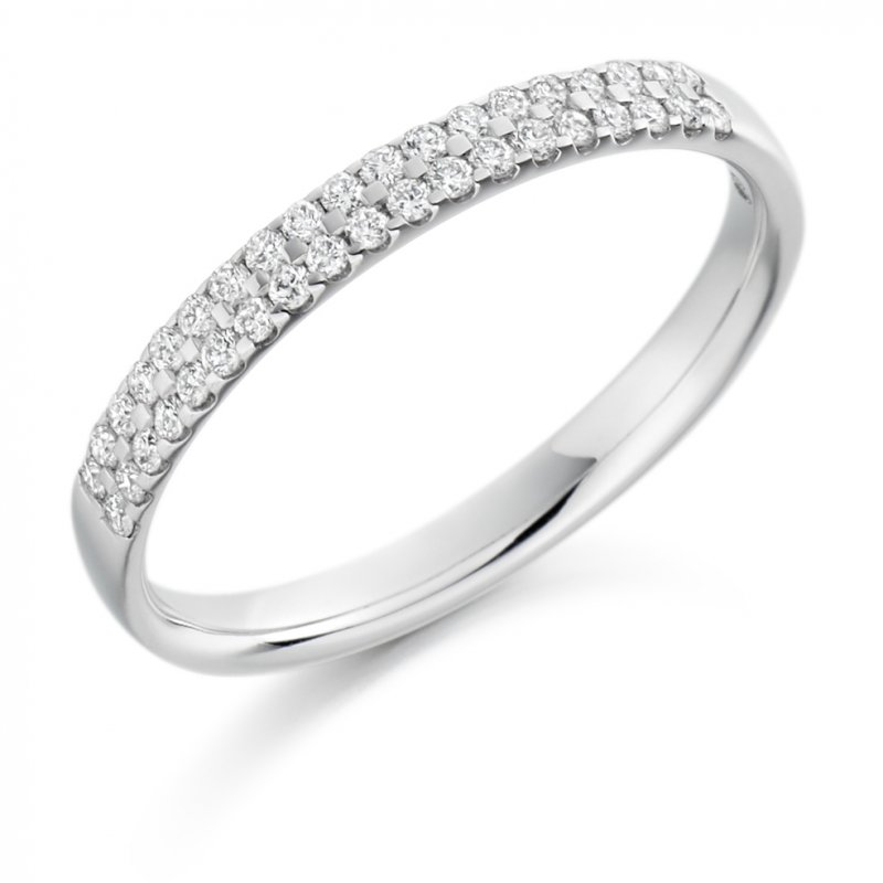 0.25ct Micro-claw Set Diamond Band Double