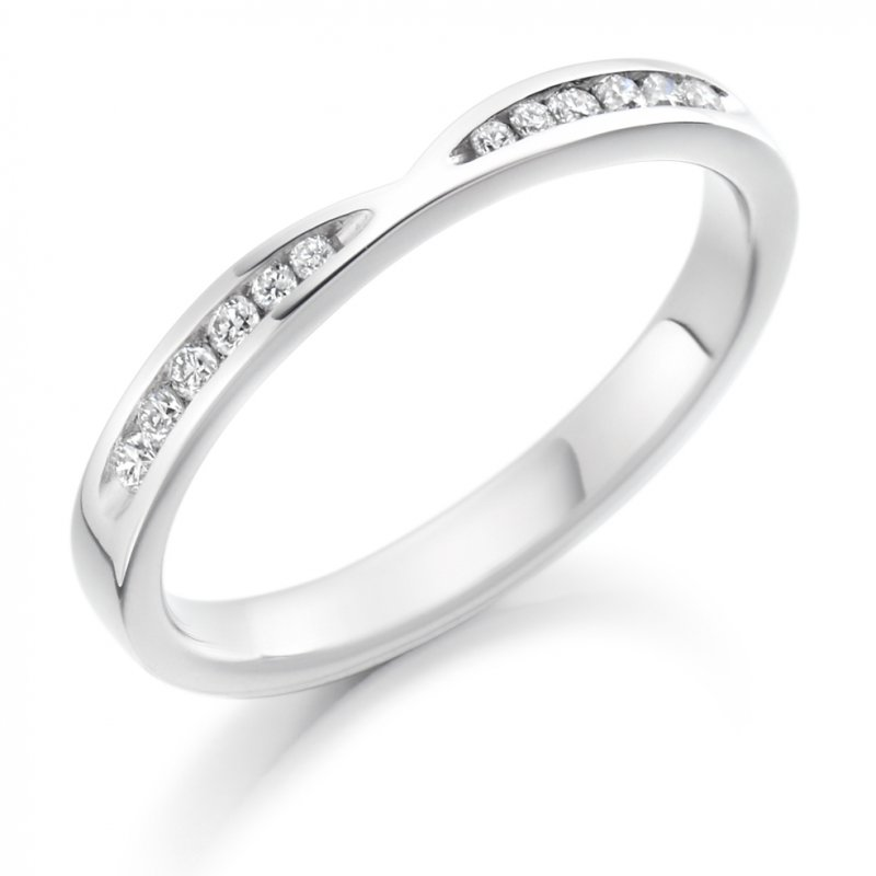 0.18ct Channel Set Cut-Out Diamond Band