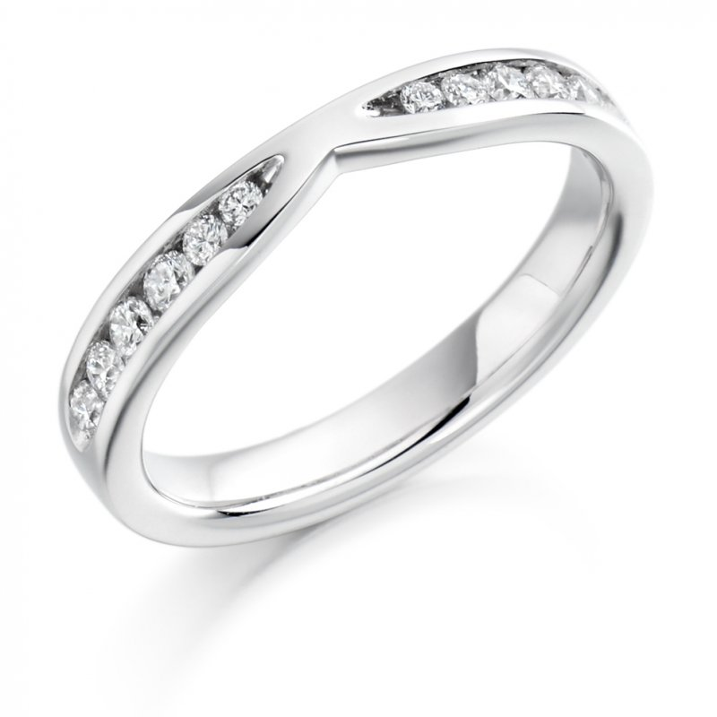 0.37ct Channel Set Cut-Out Diamond Band